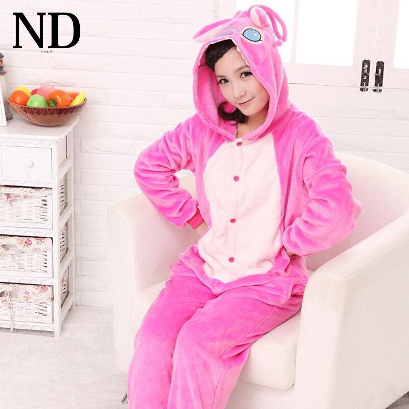 Blue Pink Stitchy Onesies Pajamas Cartoon Animal Cosplay Stitch Pyjamas Adult Onesies Costume Party Dress Halloween