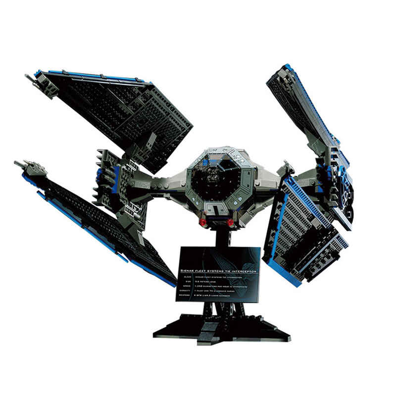 New 703pcs Star War Series Limited Edition The TIE Interceptor Building Blocks Bricks Model Toys Compatible with lego 7181 05044 конструктор lepin star plan истребитель tie interceptor 703 дет 05044