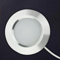 Sotto Le Luci Armadio Lampada di Notte Del Led Dimmerabile 12V 3W di Alluminio Rotonda Luce Armadio Sotto Armadio da Cucina Contatore illuminazione