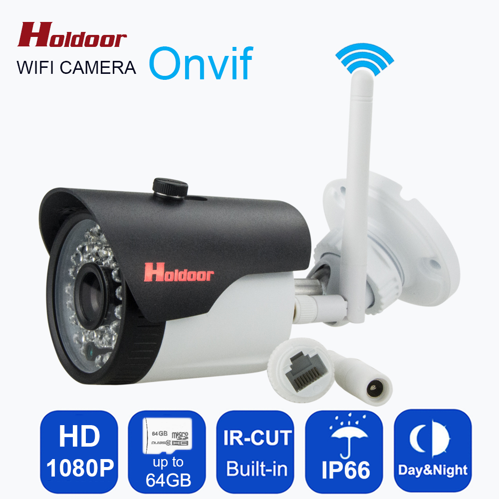 outdoor 1080P IP Camera Wireless Wifi HD IR night vision Onvif waterproof security bullet network web Bullet camera with IR-Cut outdoor 720p ip camera hd wireless wifi array ir night vision bullet onvif waterproof cctv security ip 1mp network web camera