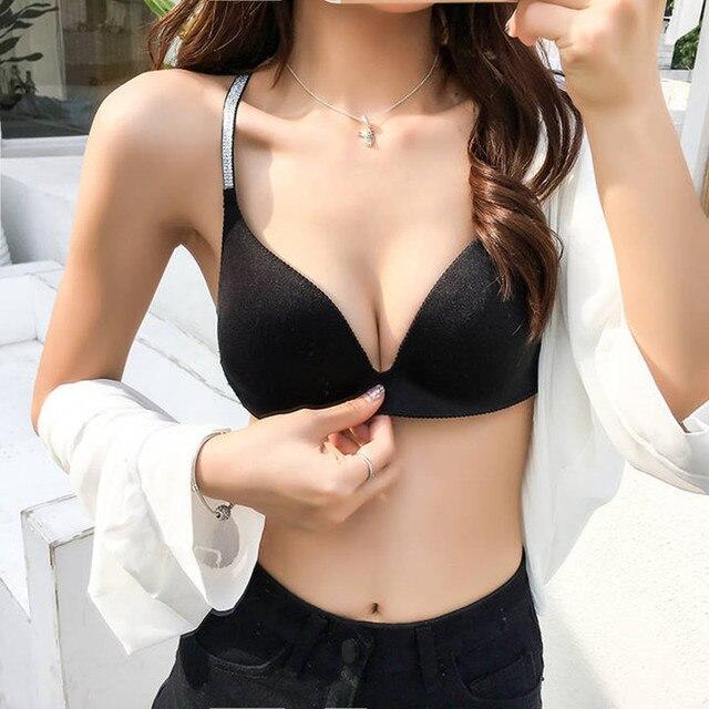 Seamless Bras For Women Bralette Cross Straps Beauty Back Brassiere Female Underwear Push Up Bra Sexy Lingerie