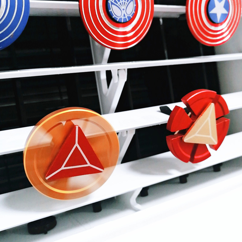Hand Spinner Air Freshener Clip Car Styling Perfume For Air Condition Vent The Avengers Spiderman Ironman Captain Fans in Air Freshener from Automobiles Motorcycles