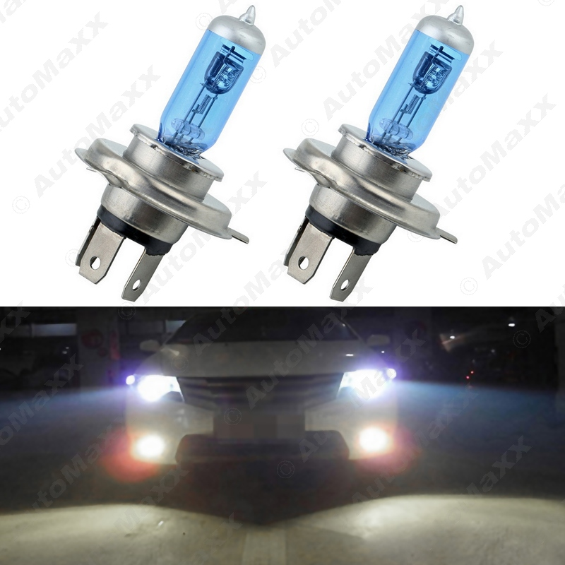2Pcs Car H4 55W/100W 12V White Fog Lights Halogen Bulb Car