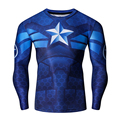 New Fashion Mens Fitness Compression Marvel T-shirt Captain America Superman Ironman Crossfit tshirt Gentle Clothing