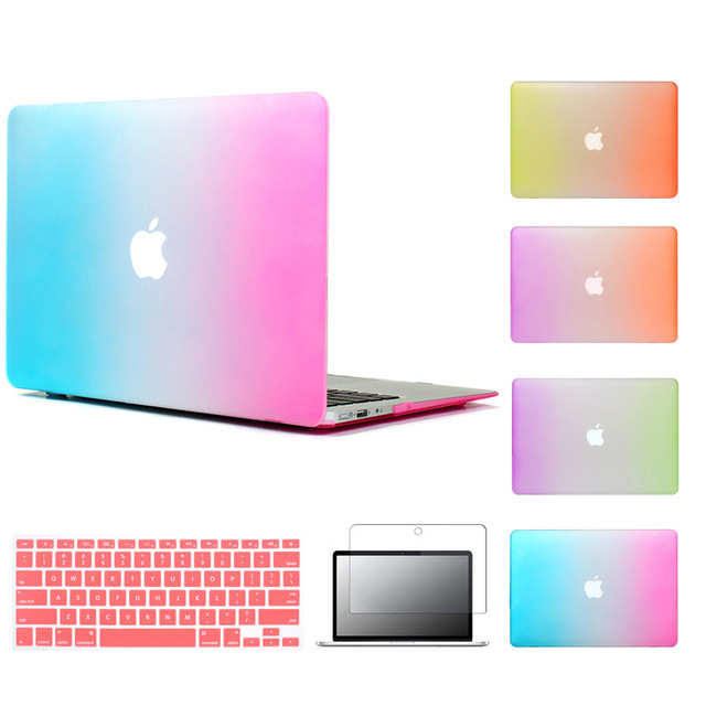 Best selling Matte Case for apple macbook air 11.6 13.3 rainbow mac book pro retina 11 12 13 15 inch Protective Laptop cover