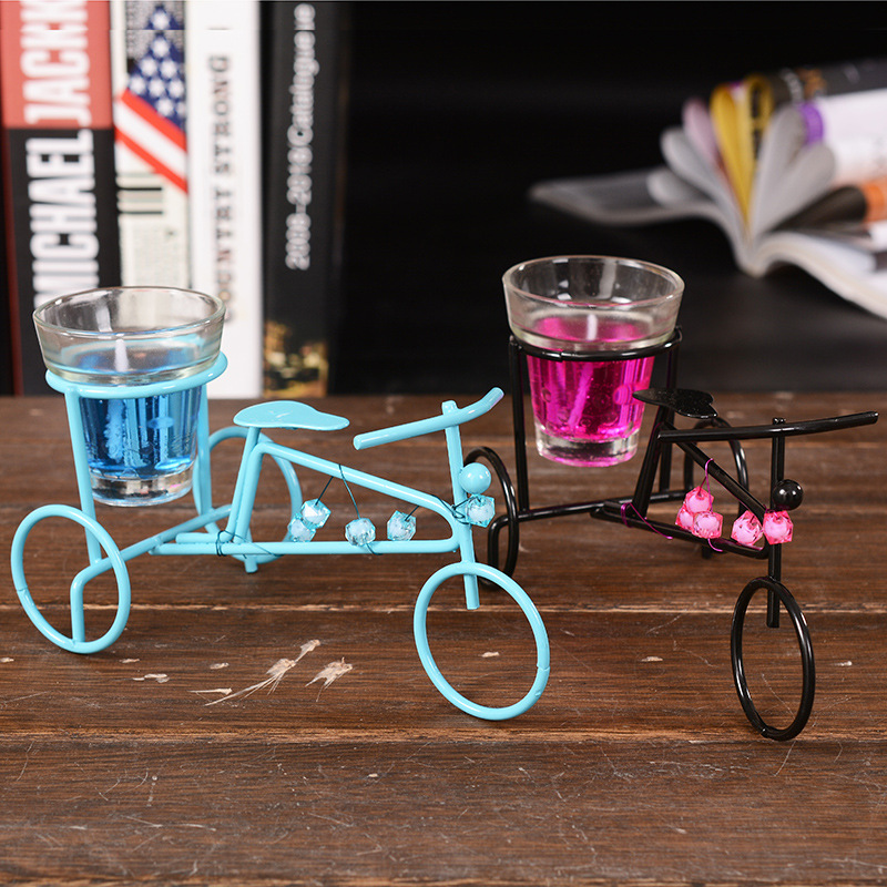 Wholesale Vintage Wedding Decor Metal Bicycle Candle Holders Candlesticks Decorative For Home Decoration Romantic Candlestick