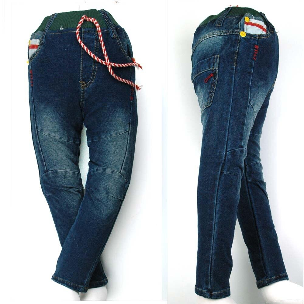 18M-5Y Niño Tejido Denim Jeans Adolescentes línea bordado estilo - Ropa de ninos
