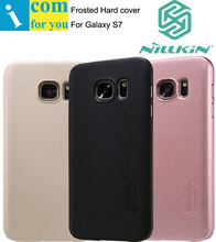 Nillkin Супер Матовый Экран Cover Case Для Samsung Galaxy S8 S6 S7 края Плюс с 1 шт. Экран фильма