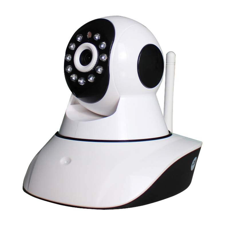 720P HD WiFi IP Camera Pan Tilt PTZ 2-way Audio Talk 1.0 Megapixel Home Security Surveillance Wireless H.264 Support TF SD Card wireless ip camera hd 720p megapixel wifi camera home security cameras support tf sd card indoor two audio pan tilt p2p ip cam