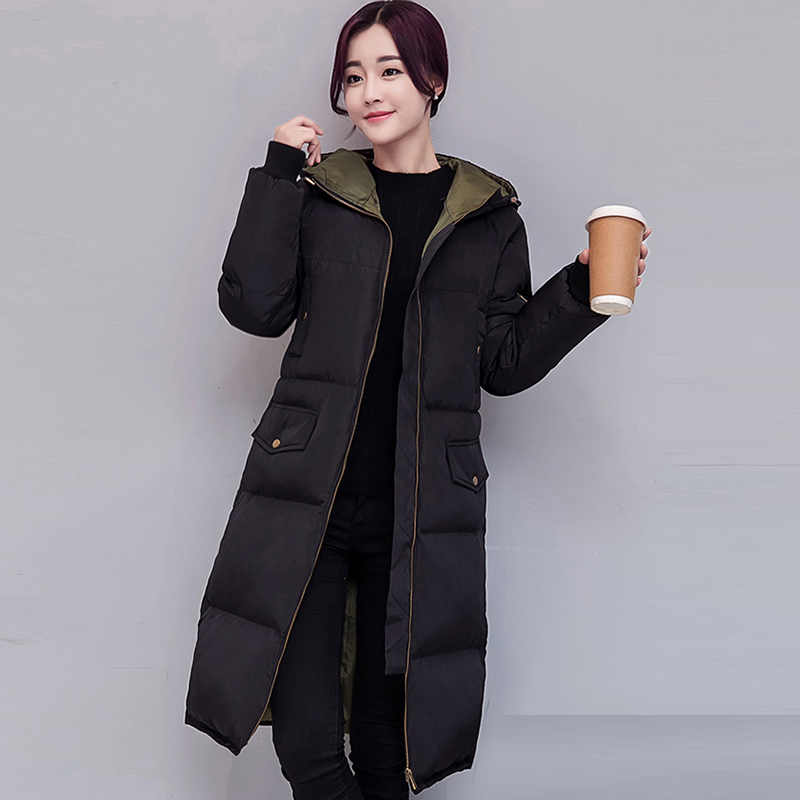 Plus Size Winter Womens down cotton Coats Jacket Warm Thick Cotton Hooded Long Parkas for Women Winter thicker Overcoat QH0864 2017 new winter warm hooded long women s coats thick cotton jacket women embroidery letter vintage overcoat parkas abrigos mujer