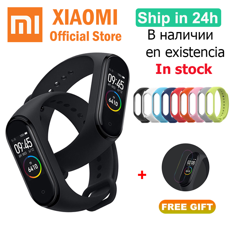 2019 Xiaomi Mi Band 4 Smart Watch Color Screen Bluetooth Heart Rate replace Band 3 Chinese Version Original Newest Miband 4 xiaomi mi band 4