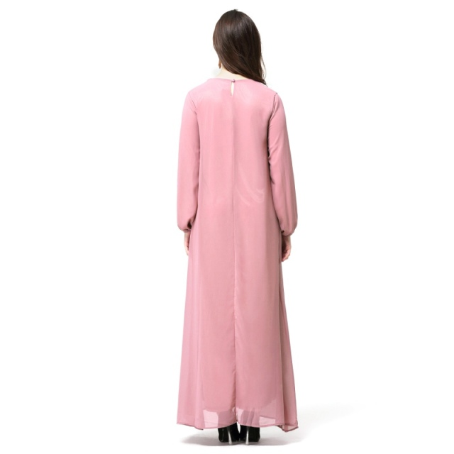 New Women Elegant Maxi Long Dress Kaftan Jilbab Islamic Abaya Muslim