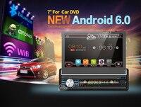 7 inch Android 6.0 Auto Đài Phát Thanh Stereo Duy Nhất 1 din Quad Core Universal Car Media Player HD Điện Dung 2 GB + 16 GB Đầu đơn v
