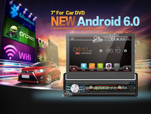 7 zoll Android 6.0 AutoRadio Stereo Single 1 din Quad Core Universal Auto Media-Player HD Kapazitiver 1 GB + 16 GB Kopfeinheit