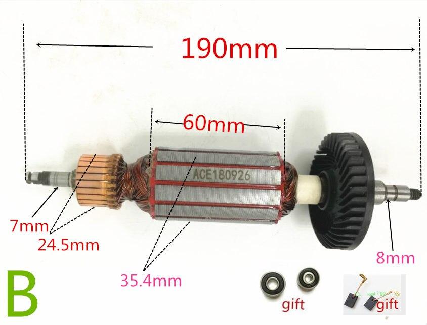 AC220-240V Rotor Anchor Armature Replace For MAKITA 9565C 9565CV 9565CVR 9565PC 9565PCV 515228-2 9564CV 9565PCV 9564PCV