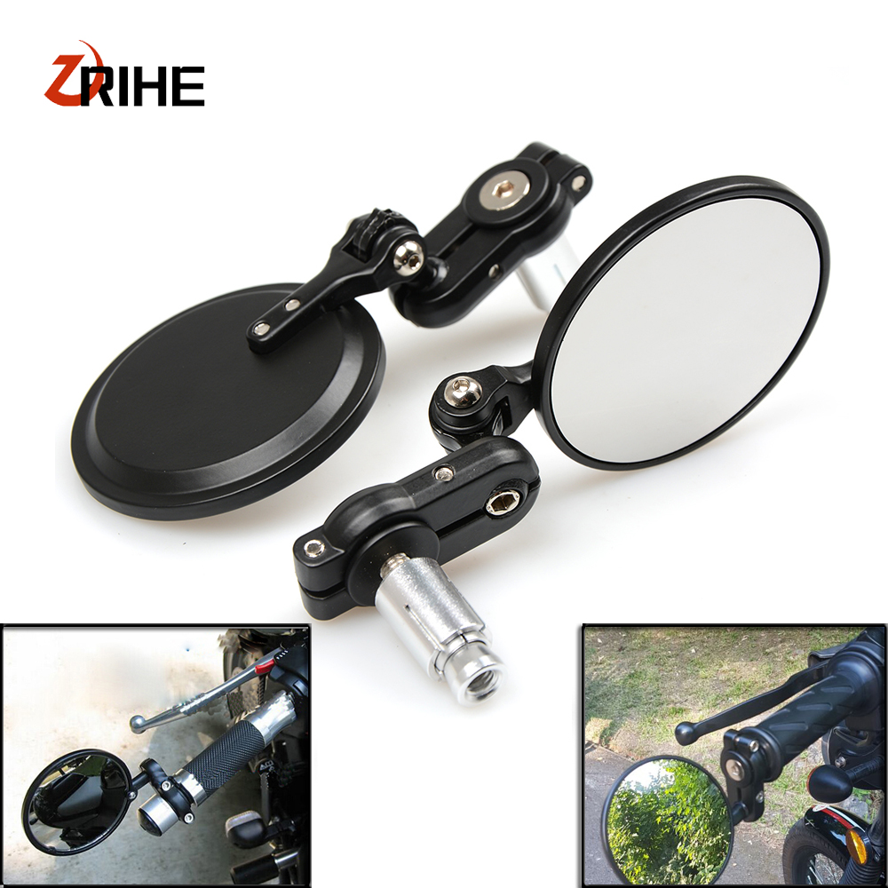 CNC Motorcycle 7/8 22mm handle bar grips Bar End Mirrors Rearview Mirror For For Yamaha XJ6/DIVERSION XJR 1300/Racer XSR 700