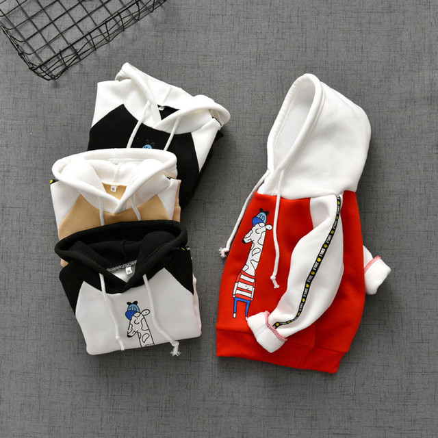 Children Autumn Winter Sweatshirt Baby Girls Boys Animal Print Sweatshirt Hoodie Pullover Tops Clothes Toddler Kids Sweatshirt