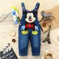 newborn mickey  baby boys and kids girls children's clothing jeans overalls infant pants toddler Buttons trousers