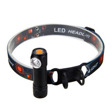 Mini USB Rechargeable Flashlight LED Headlamp Head Torch Headlight with Battery for Outdoor Camping(China)