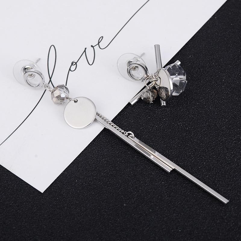 Modern Women 39 s Earrings 2018 Irregular Prevent Allergy Crystal Long Dangle Earrings Korean Fashion Jewelry Women Accessories in Drop Earrings from Jewelry amp Accessories