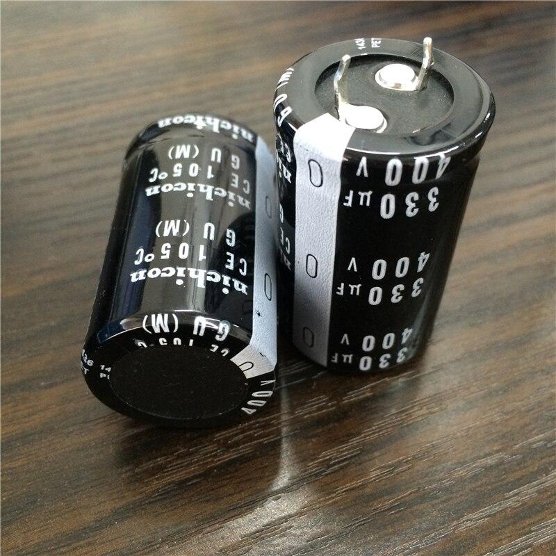 Image 2 - 2 uds 330uF 400V NICHICON GU serie 25x40mm alta calidad 400V330uF Snap en PSU condensador electrolítico de aluminioCondensadores   -