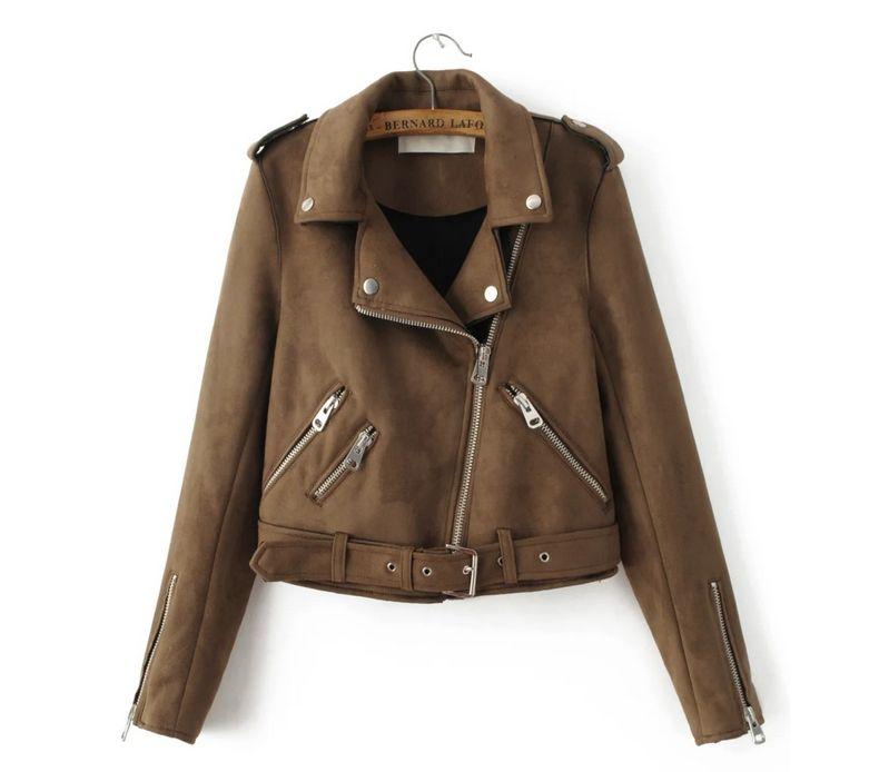 De ante de la vendimia chaqueta corta de lana de cordero abrigo de Invierno cáli