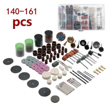 140-161 Pcs Electric Grinder Accessory Set, Grinding Head, Sandpaper Ring,Resin Cutting Blade, Brush, Engraving,Car tools