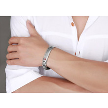 Men's Medical Alert ID Bracelet Bangle Jewelry Stainless Steel Metal 8.5inch Free Engraved