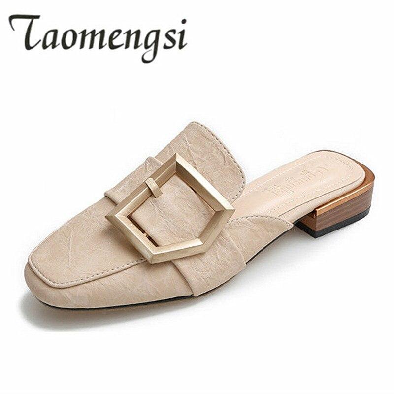 7dd07050421 Spring Autumn Shoes Woman Big Size 41 42 43 Women s Pumps 2019 Arrivals Fashion  Women s Mules