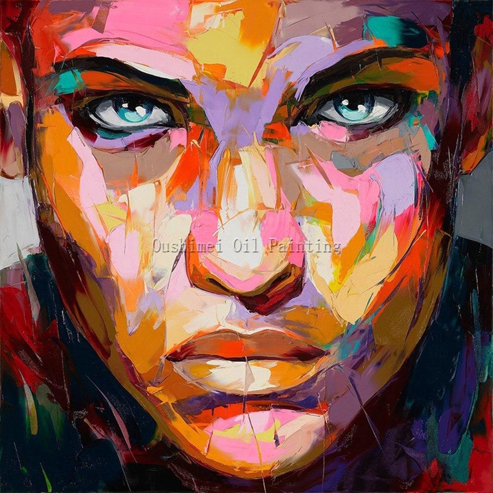 இEnvío de la alta calidad pintura al óleo abstracta del retrato en ...