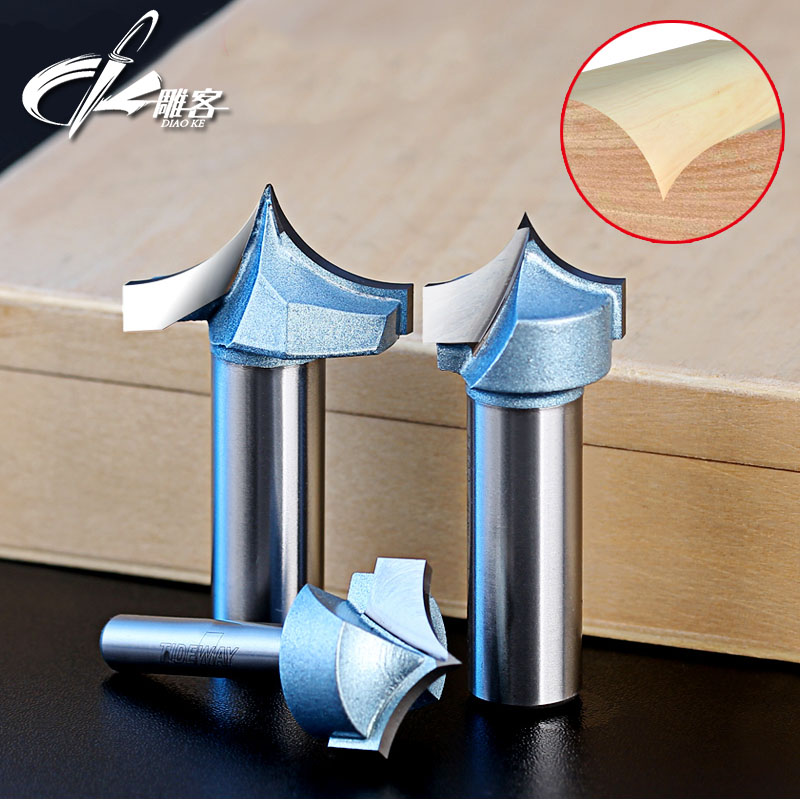1pc 1/2  1/4 Shank Point-cut Round over Groove Bit Carbide Wooden Router End Mill CNC Milling Tool on 3D Cutting Hard Wood PVC point cut round over groove 1 4 1 4 woodworking tool needle nose cutters wood cnc router bits endmill manufacturer tideway 2886