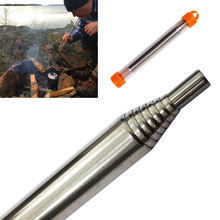 Tools Outdoor Cooking Survival Blow Fire Tube Portable Fire Starter Retractable Stainless Steel Camping Survival Blow Fire Tube