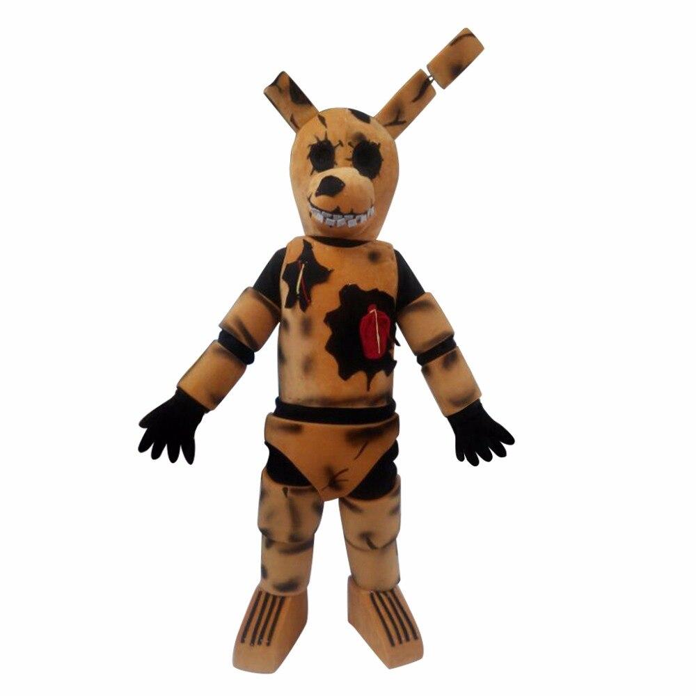 Cosplaydiy fait sur commande cinq nuits chez Freddy's Toy brun Bunnie Cosplay mascotte pour noël L0713