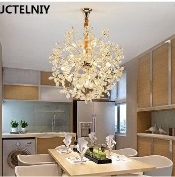 Lámparas colgantes de cristal luz sala de estar lámpara LED esférica moda  el comedor colgante de
