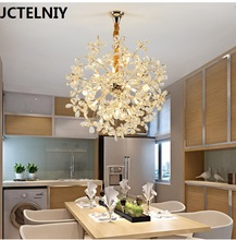 Pendant light crystal lamps living room LED lamp spherical fashion the dining room pendant light round