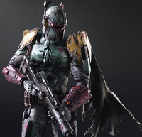 Star Wars Action Figure Bounty Hunter Boba Fett Play Arts Kai PVC Figure Toy Anime Star Wars Playarts Kai Collection Model Doll