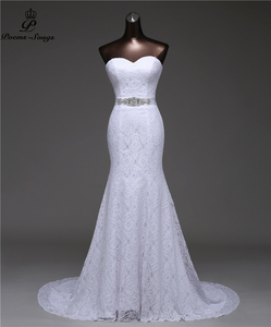 Image 1 - เข็มขัดคริสตัลเซ็กซี่ชุดเดรสเมอร์เมด 2020 vestidos de noiva Robe de mariage เจ้าสาวชุดจัดส่งฟรี