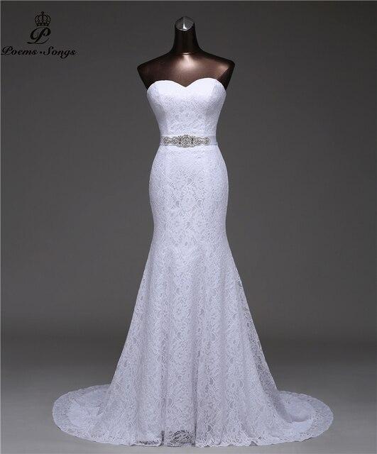 เข็มขัดคริสตัลเซ็กซี่ชุดเดรสเมอร์เมด 2020 vestidos de noiva Robe de mariage เจ้าสาวชุดจัดส่งฟรี