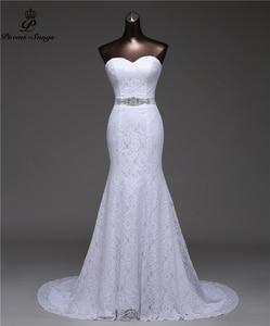 Image 1 - 크리스탈 벨트 붕대 섹시한 인어 웨딩 드레스 2020 vestidos de noiva 로브 드 mariage 신부 가운 무료 배송