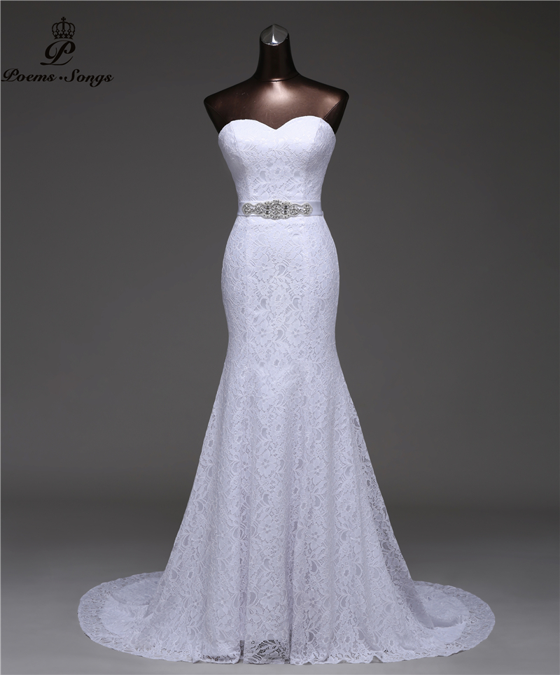 Crystal Belt Bandage Sexy Mermaid Wedding Dresses 2020 Vestidos De Noiva Robe De Mariage Bridal Gown Free Shipping