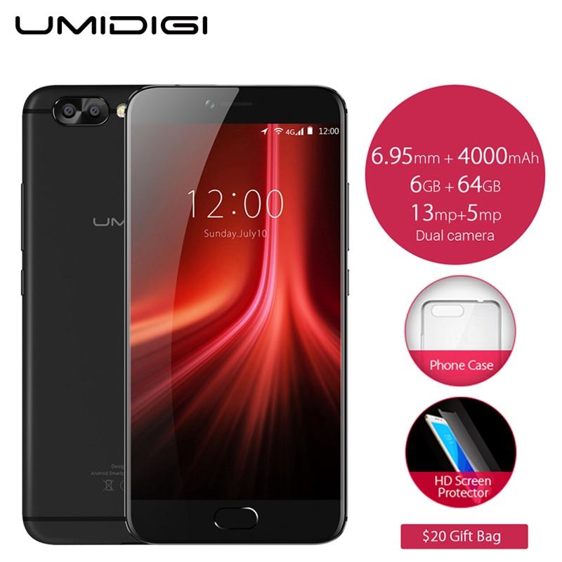 Original UMIDIGI Z1 Pro Cell Phone 5.5 inch FHD Screen 6GB RAM 64GB ROM MTK6757 Octa Core 4000mAh Android 7.0 4G LTE Smartphone