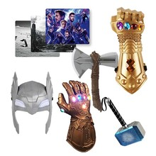 цена Marvel Toys The Avengers Figure Superhero Thor Hammer Mask Hatchet Mouse Pad Action Figure Collectible Model Doll онлайн в 2017 году