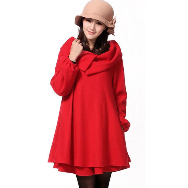 2016 Otoño Invierno de Lana Femenina prendas de Vestir Exteriores de Maternidad Embarazo Abrigos Woole Chaqueta de la Capa Ropa De Abrigo Para Las Mujeres Embarazadas Visten