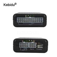 Fuente de alimentación ATX SATA HDD, indicador LED de 20 a 24 Pines, prueba de diagnóstico para ánodo cátodo, 12V, 5V, 3,3 V