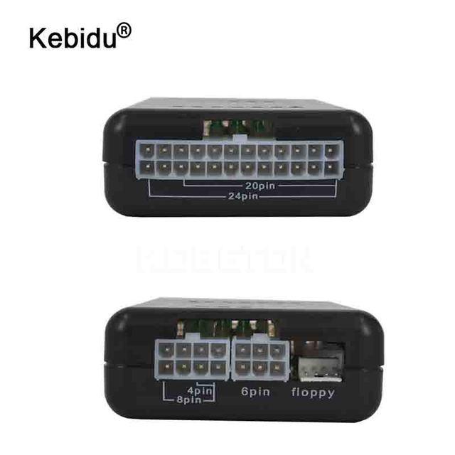 PC Computer ATX SATA HDD Power Supply Tester LED Indication 20 24pin PSU Diagnostic Tool testing for Anode Cathode 12V 5V 3.3V
