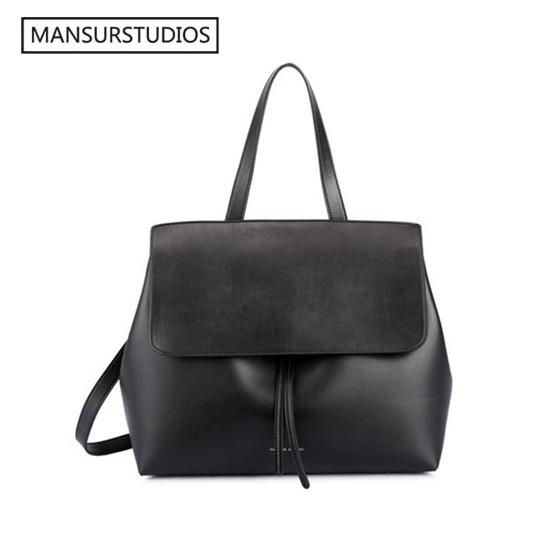 MANSURSTUDIOS Classics Shouder Bag ,mansur Women Leather Lady Bag ,  Gavriel Lady Real Leather Hand Bag,free Shipping