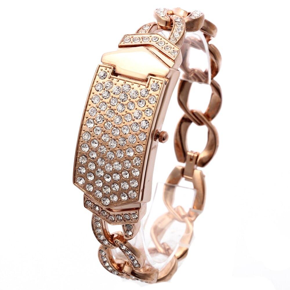 2018 Nuevo Reloj G&D para Mujeres Reloj de Oro Rosa Cadena de Acero - Relojes para mujeres