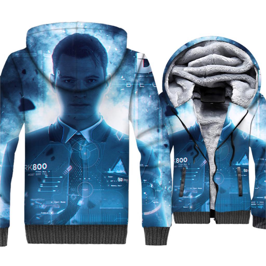 Sweatshirts For Men 2018 Autumn Winter Hooded Jackets Male Detroit Become Human 3D Printed Clothing Zip Coat Men 39 s Hoodies Tops in Hoodies amp Sweatshirts from Men 39 s Clothing