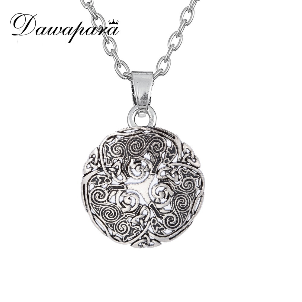 Dawapara Triskele Spiral Symbol Teen Wolf Necklace For Men