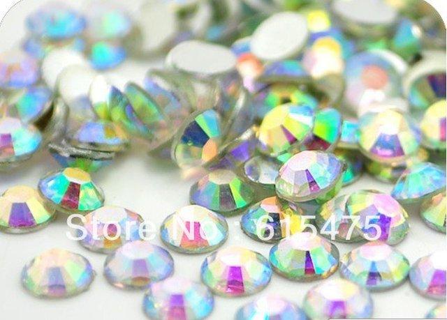 2mm Cristal AB Cor SS6 strass Resina cristal flatback, Frete Grátis 100,000 pçs/saco